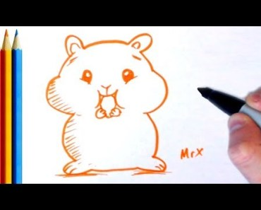 How to Draw Funny Hamster - Step by Step Tutorial For Kids - how to draw funny hamster step by step tutorial for kids