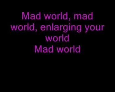 Mad World -Gary Jules (lyrics) - mad world gary jules lyrics