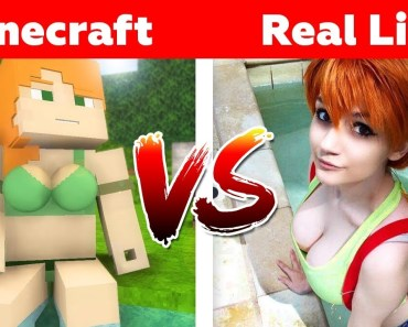 MINECRAFT ALEX IN REAL LIFE! Minecraft vs Real Life - minecraft alex in real life minecraft vs real life