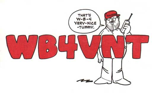 WB4VNT ham radio cartoon QSL by N2EST