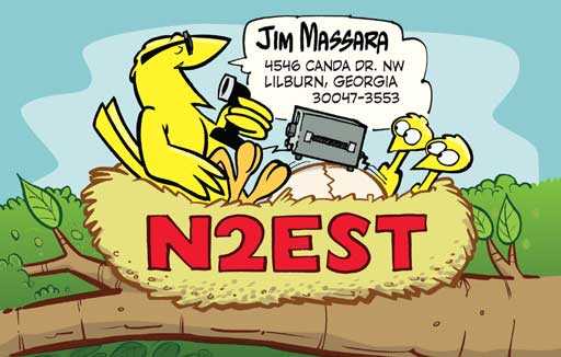 N2EST ham radio cartoon QSL