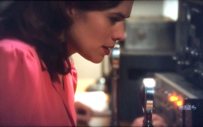 Agent Carter with Astatic D-104 microphone