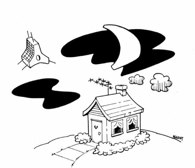ham satellite cartoon