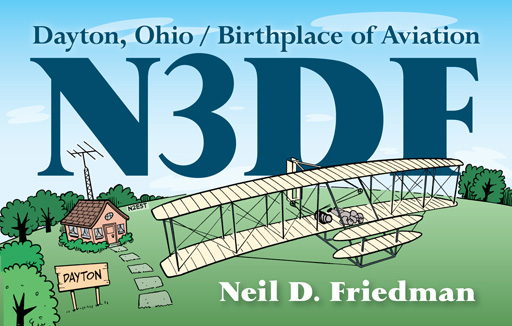 N3DF ham radio cartoon QSL by N2EST