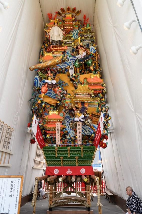 福岡ドーム・飾り山笠見送りの写真