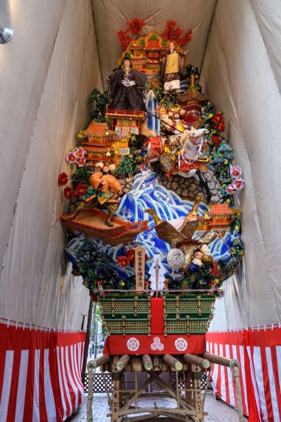 博多リバレイン・飾り山笠表の写真