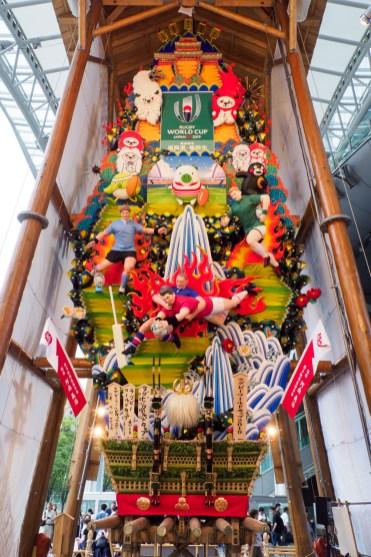 博多駅商店連合会・飾り山笠の写真