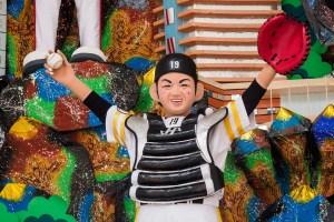 博多祇園山笠・福岡ドームの飾り山笠の写真