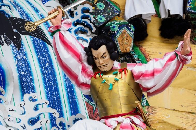 博多祇園山笠・櫛田神社の飾り山笠の写真