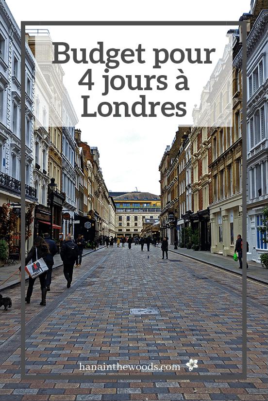 Budget pour 4 jours à Londres
