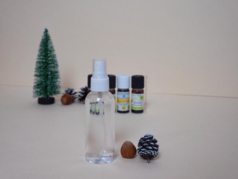 Spray assainissant aux huiles essentielles
