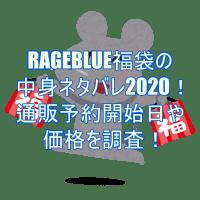 RAGEBLUE福袋の中身ネタバレ2020!通販予約開始日や価格を調査!2