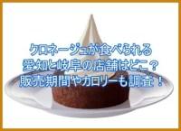クロネージュが食べられる愛知と岐阜の店舗はどこ?販売期間やカロリーも調査!3