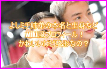 よしミチ姉弟の本名と出身などwiki風プロフィール!かわいいけど整形なの?6