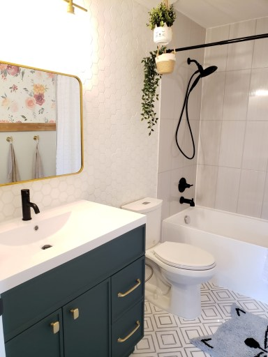 girls bathroom renovation complete