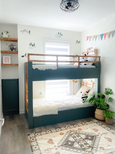 Kids room makeover with an IKEA Bunk bed