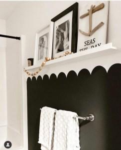 Black scallop wall
