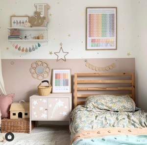 Kids room with colour blocking