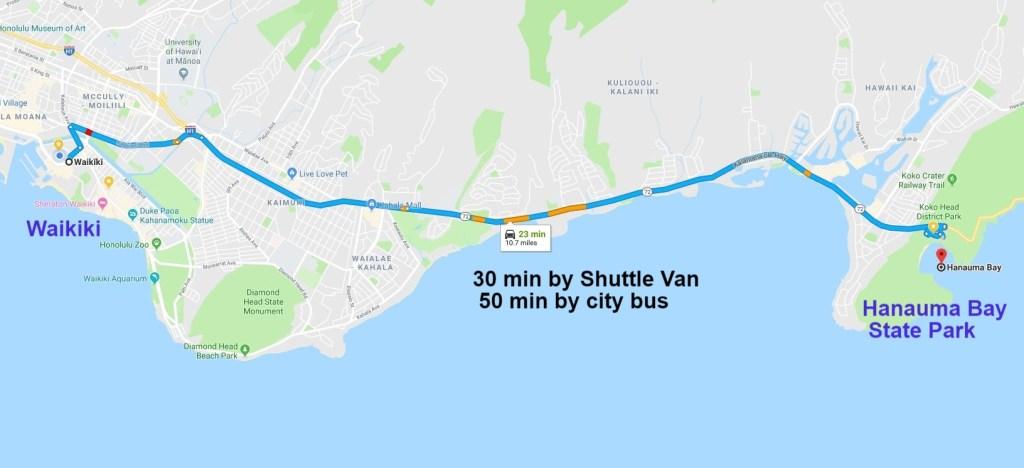 Drive to Hanauma Bay