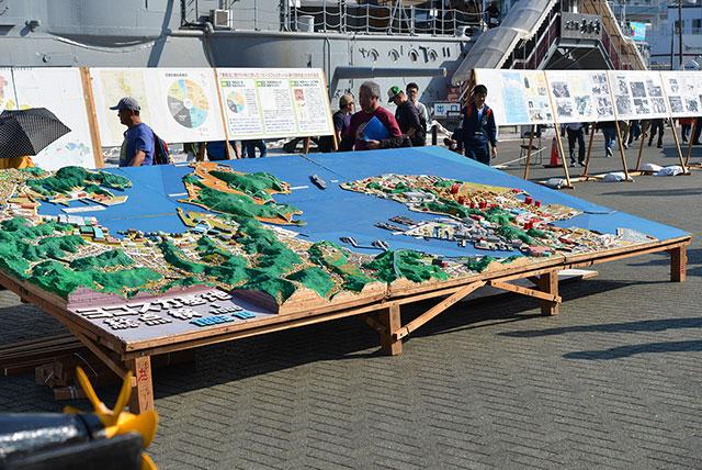 横須賀基地の地図模型。こちらもかなりのサイズ