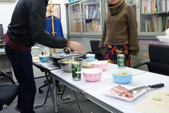豚肉とキャベツをガツガツいくタイプのご飯