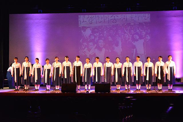 朝鮮学校合唱部の合唱