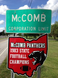 You want to live in a town where the state championship sign is larger and more profound than the sign for the town itself.