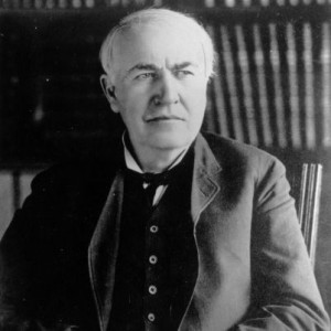 Thomas Alva Edison (1847 - 1931), American  inventor of the carbon telephone transmitter (1877), phonograph (1878), and incandescent lamp with carbon filament (1879).   (Photo by Central Press/Getty Images)