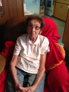 Marguerite Harshberger, the oldest living person in McComb, Ohio and a wise woman