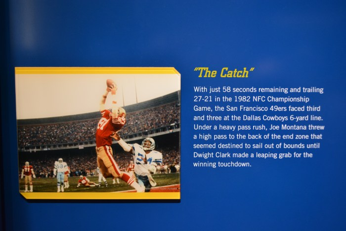 Some of NFLs more memorable moments are captured in wonderfully informative static displays throughout the museum.