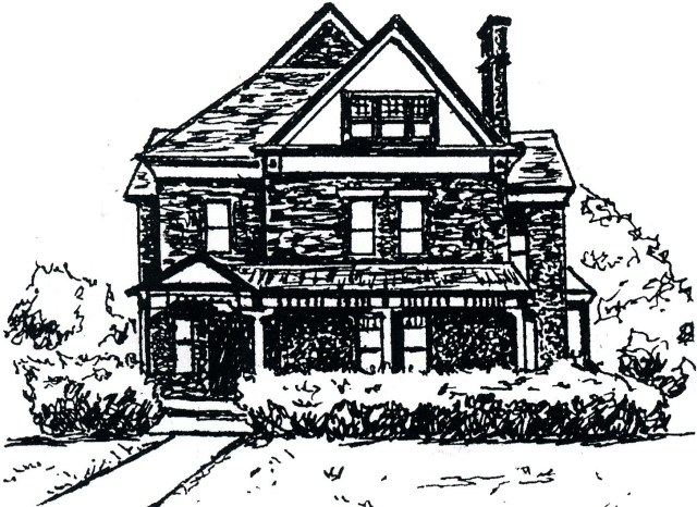 line drawing of Marshall House