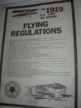 1919 flying regultions, John's rm