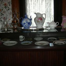 display case, dining rm.