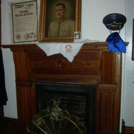 fireplace & flying reg's, John's rm