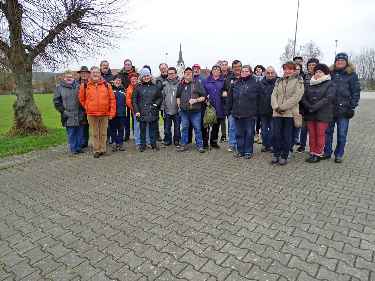 Der Förderverein der Lebenshilfe auf Wanderschaft mit Ziel Lisberg