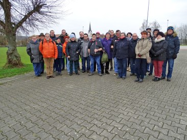 Gruppenfoto bei der 2. Winterwanderung des Fördervereins nach Lisberg.