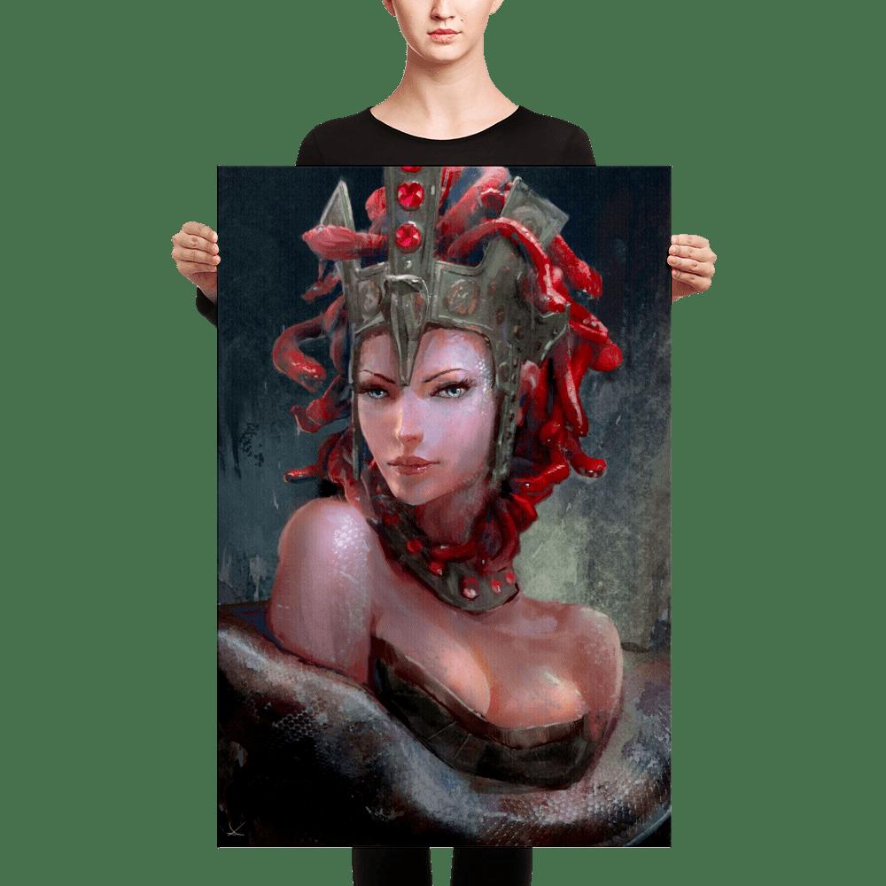 Beastly Beauties – Medusa Premium Canvas Print
