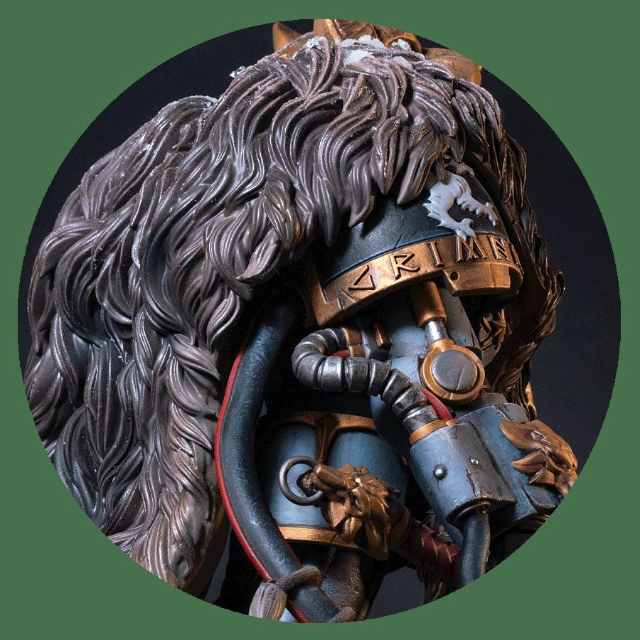 Logan Grimnar Statue Details