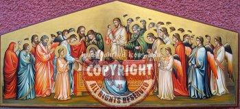 La morte della Vergine-hand-painted-icon-25x56