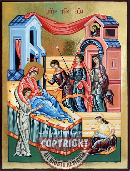 The Nativity of Our Most Holy Lady the Theotokos-Orthodox-icon