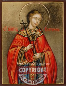 Saint Catherine-hand-painted-icon