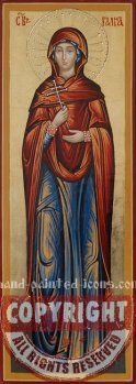 Saint Galina version 2-hand-painted-icon