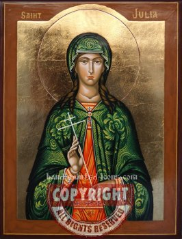 Saint Julia- hand-painted-icon