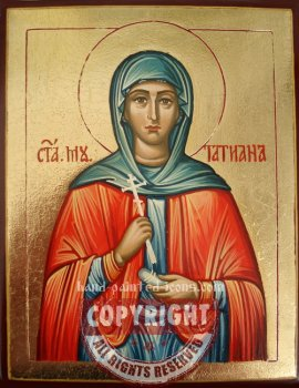 Saint Tatyana-hand-painted-icon
