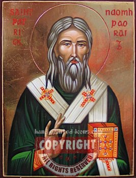 St Patrick-hand-painted-icon