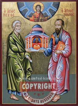 Saint Peter and Saint Paul-The Apostles-hand-painted-icon-v1