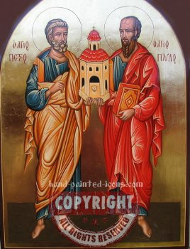 Saint Peter and Saint Paul-The Apostles-hand-painted-icon-v2