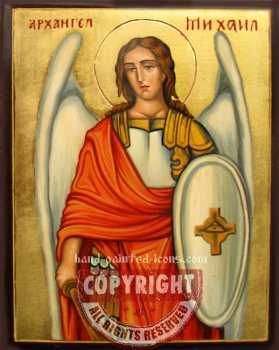 St Arhangel Michael-hand-painted-icon-v3