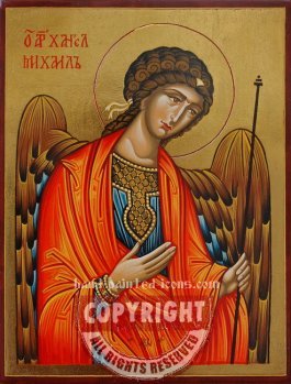 St Arhangel Michael-hand-painted-icon-v4