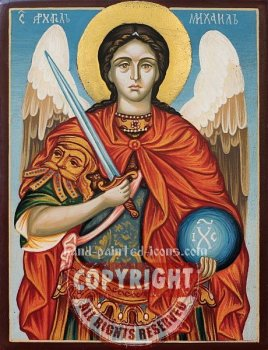 St Arhangel Michael-hand-painted-icon-v5